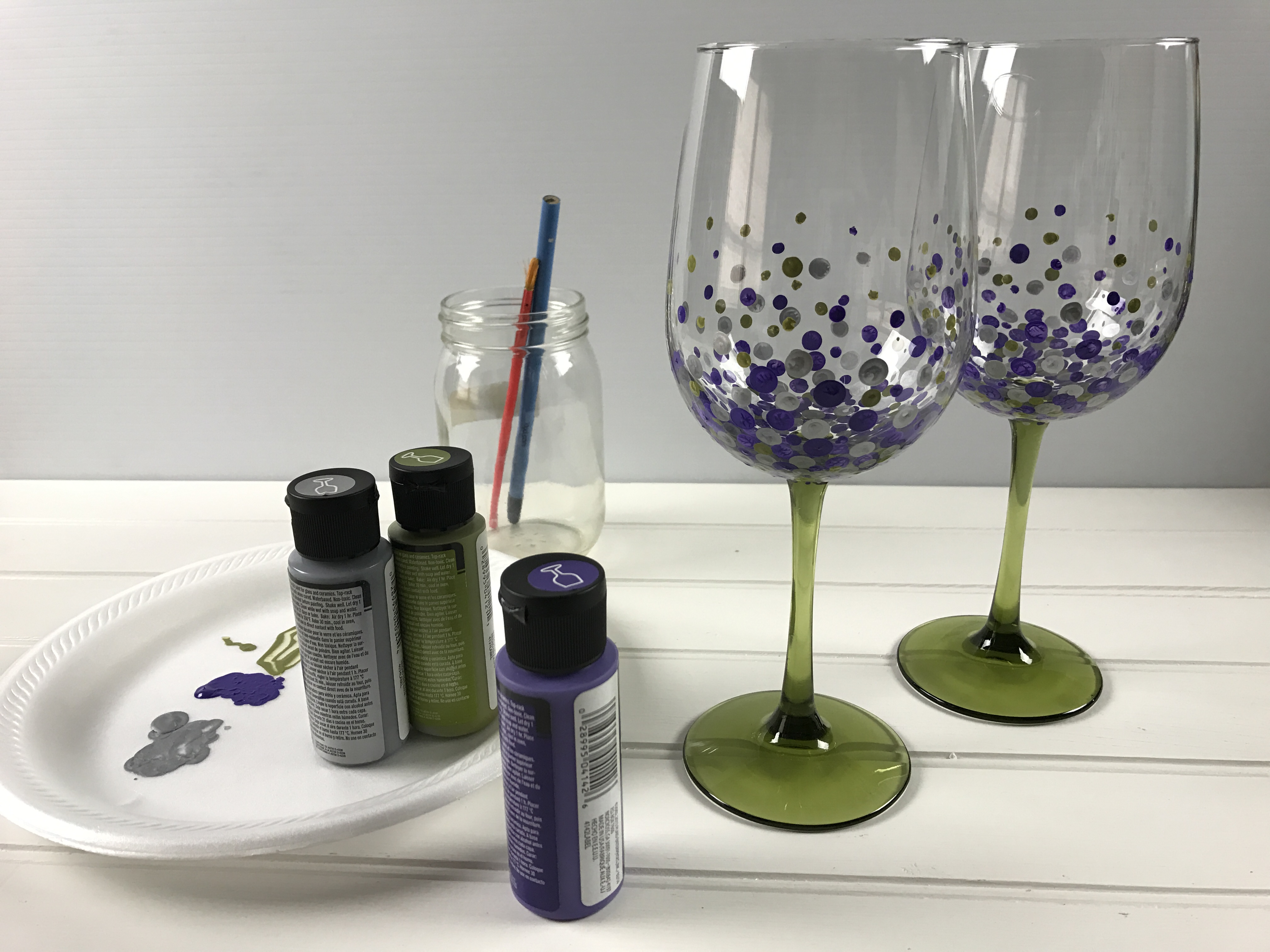 hand painted wine glasses make the perfect gift