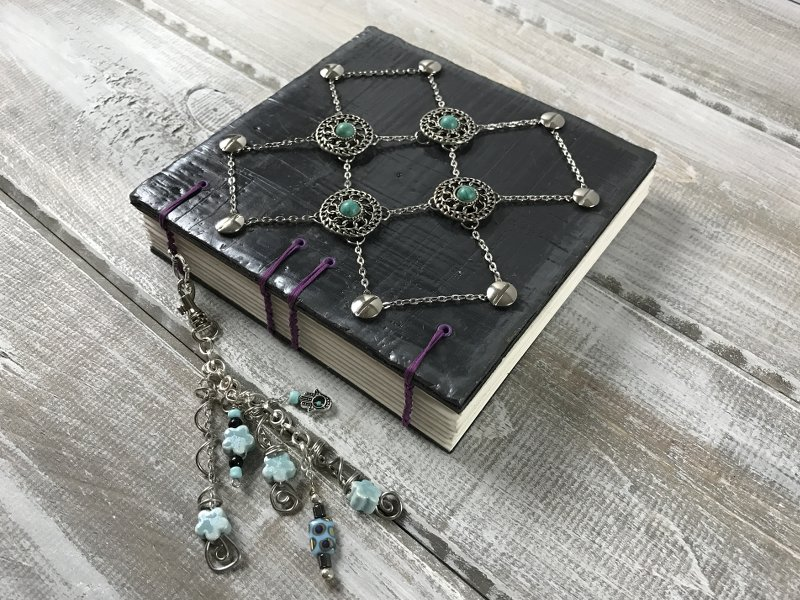 Beaded Chain Book Jacket