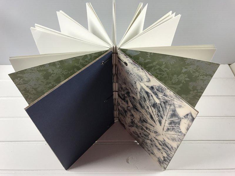 Watercolor leaf print journal